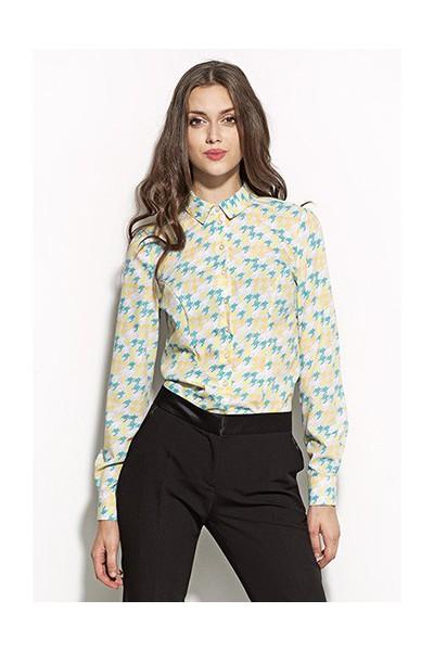 Dámská košile Nife K 45-vzorovaná