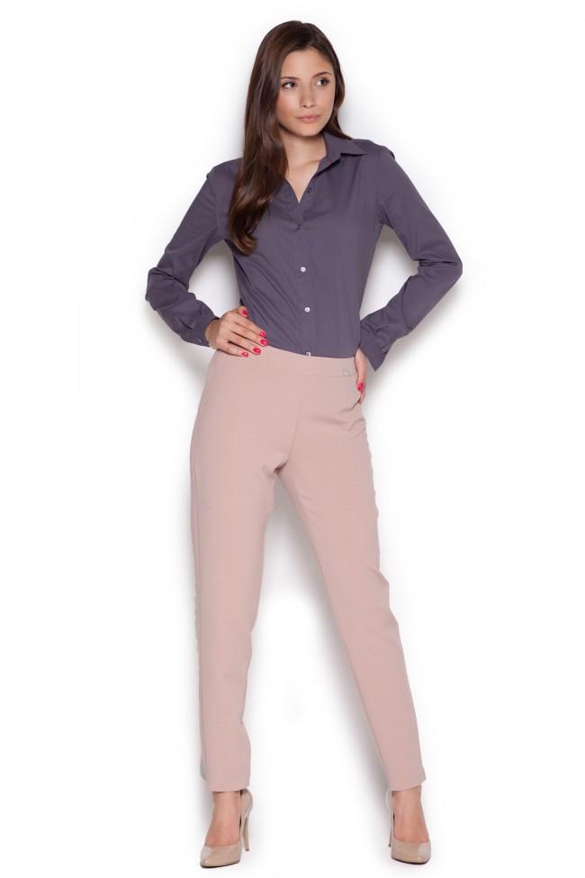 Dámské kalhoty Figl M328 růžové
