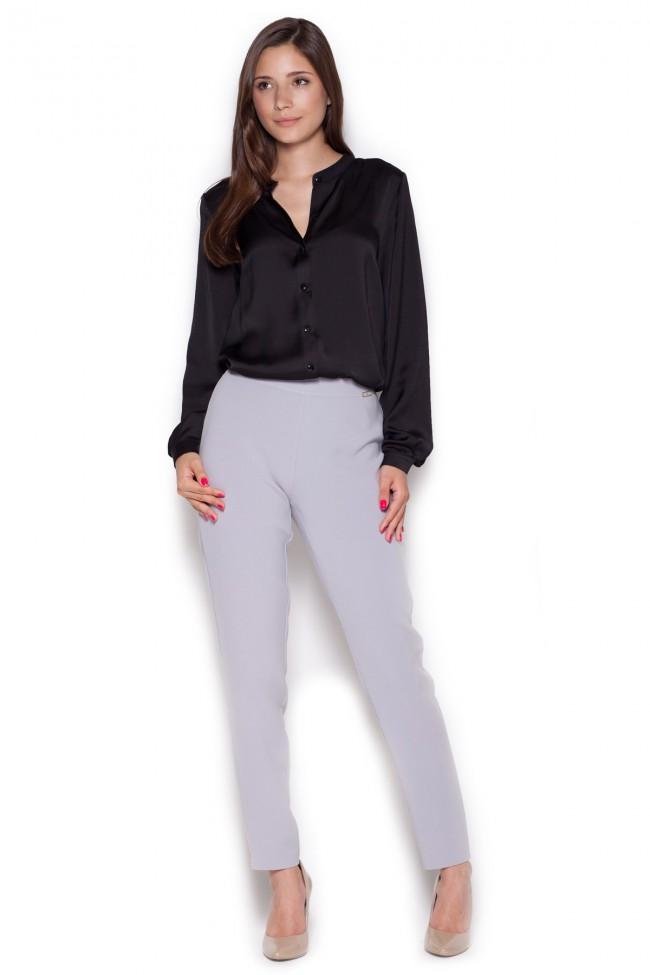 Dámské kalhoty Figl M328 šedá
