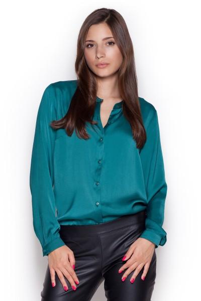 Dámská košile Figl M 316 zelená