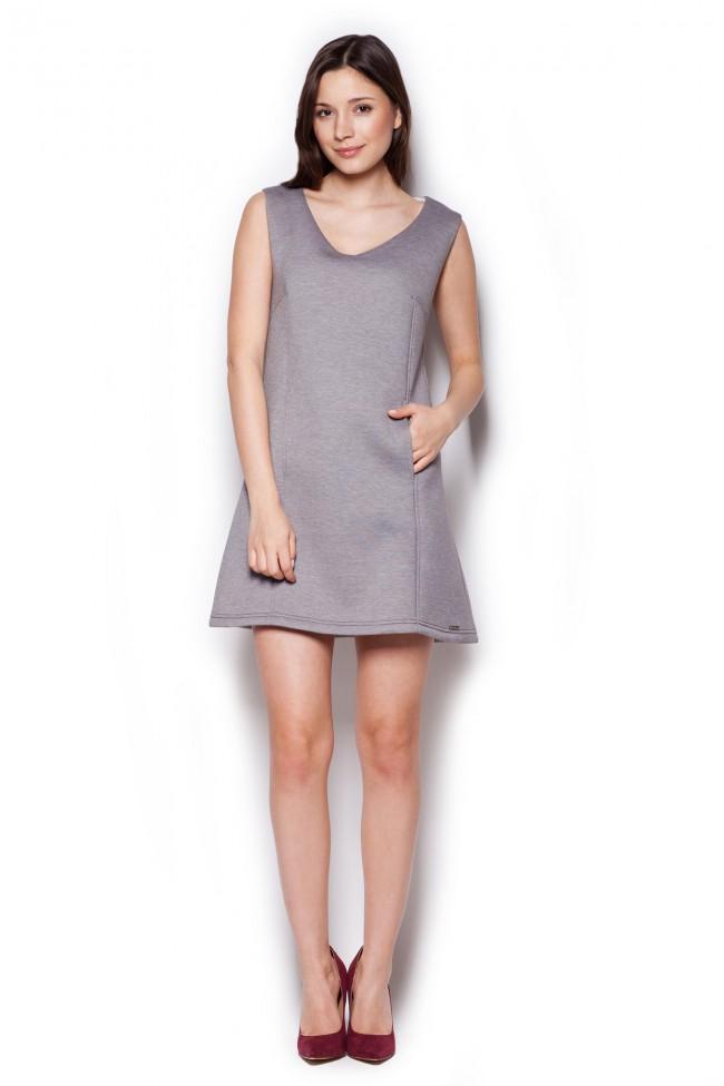 984873c771a8 Dámské šaty Figl M 349 šedé - Forseti-fashion.cz