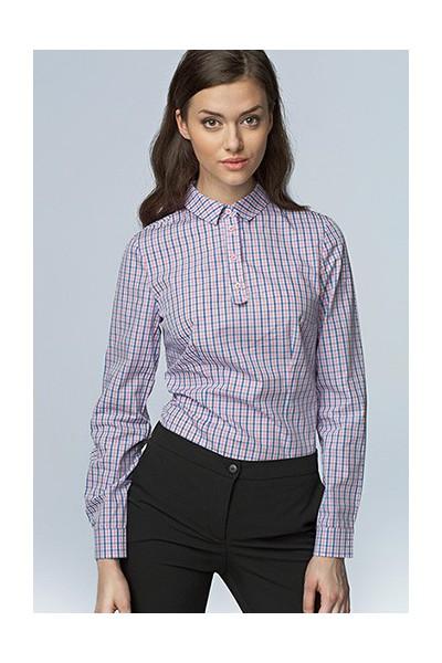 Dámská košile Nife K 46-růžová kostka