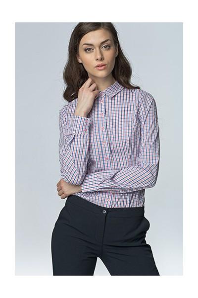 Dámská košile Nife K 43-růžová-kostka