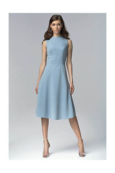 Dámské šaty Nife S62 nebeská - výprodej velikost 36