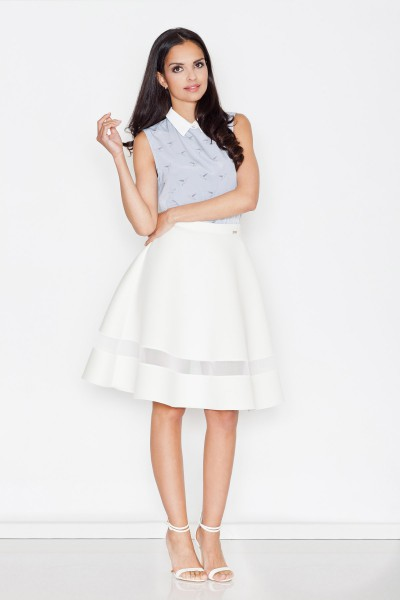 Dámská sukně Figl M 367 ecru