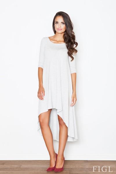 Dámské šaty Figl  M 392 šedé  světle