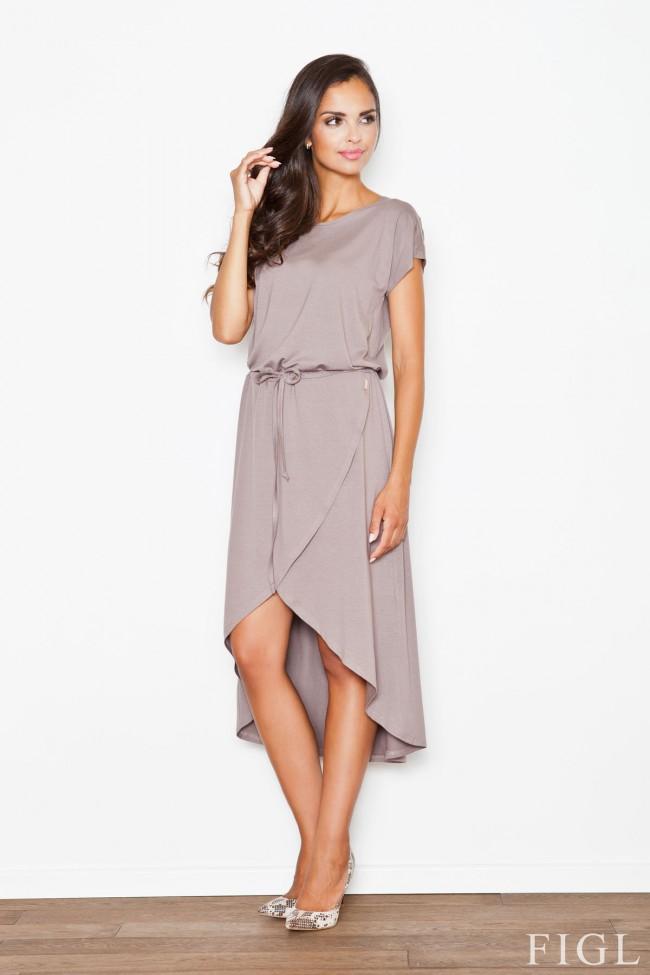 Dámské šaty Figl  M 394 hnědé