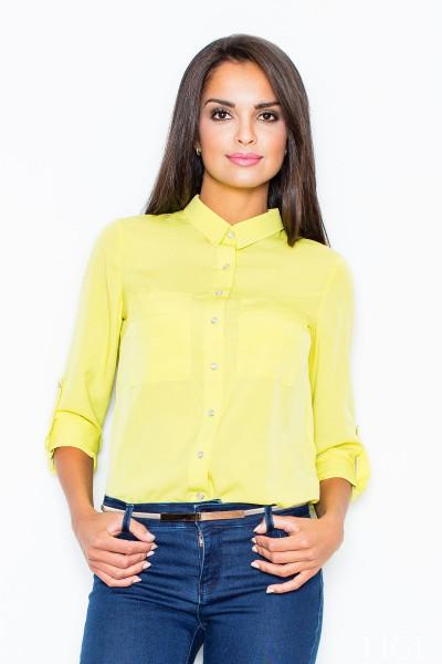 Dámská košile Figl M 384 zelená