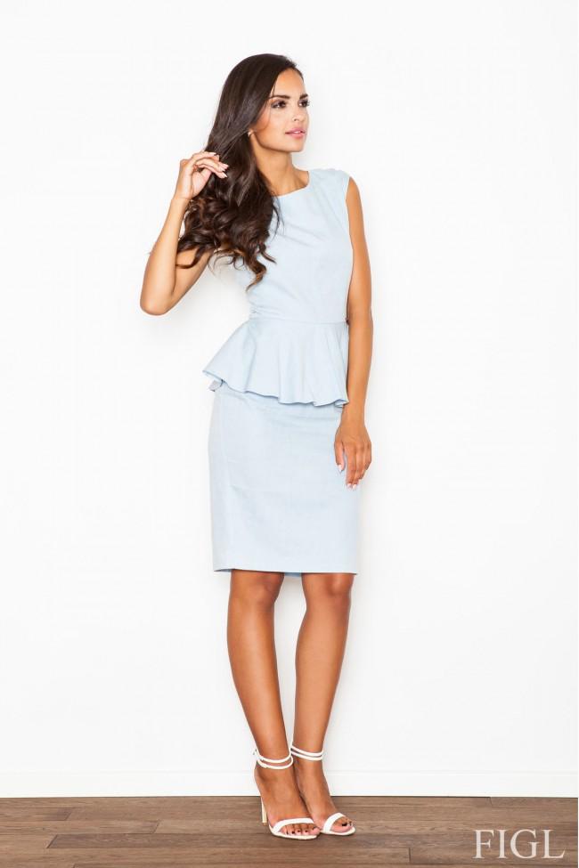 Dámské šaty Figl  M 401 světle modré