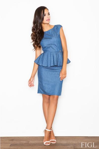 Dámské šaty Figl  M 401  modré