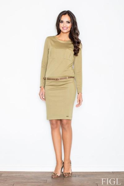 Dámské šaty Figl  M 414 zelená - olivová