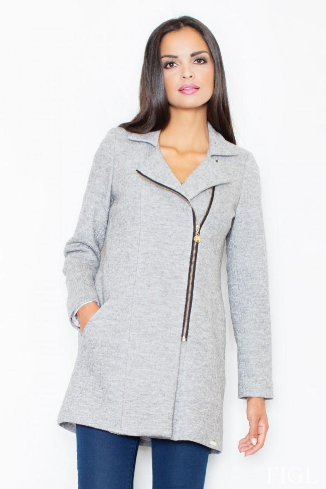 Dámský kabát Figl M 405 šedá
