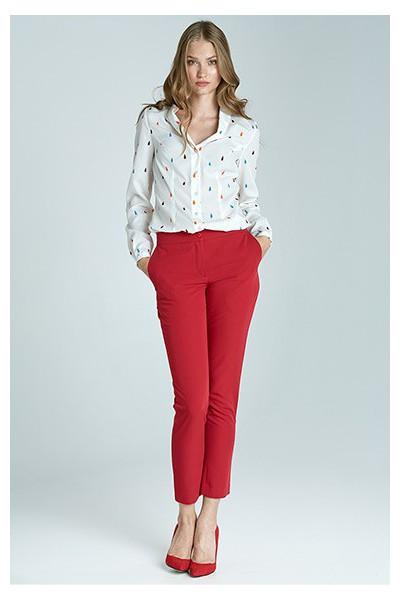 Dámské kalhoty Nife Sd22 - červené