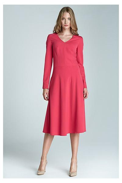 Dámské šaty Nife S67 purpurová