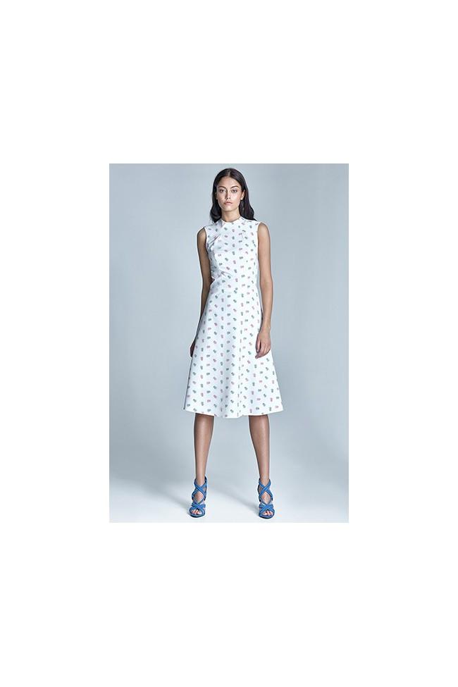 Dámské šaty Nife S70-ecru-růžová