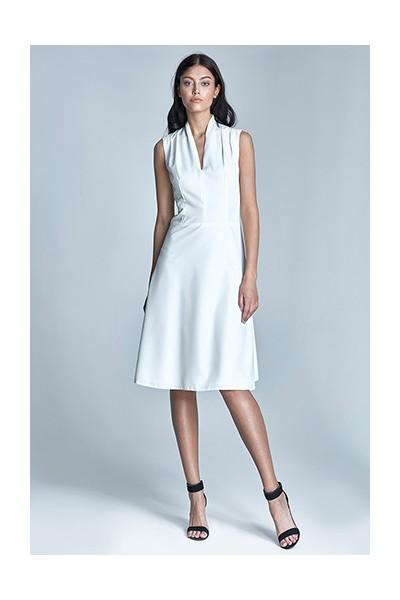 Dámské šaty Nife S74-ecru - výprodej