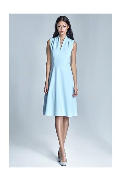 Dámské šaty Nife S74-světle modrá