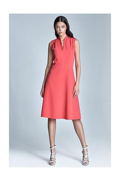 Dámské šaty Nife S74-korálová