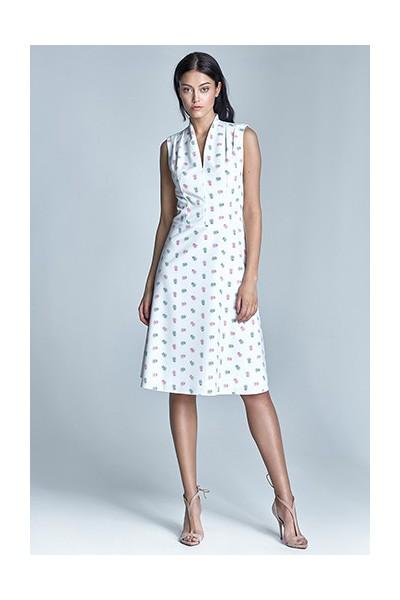 Dámské šaty Nife S74-ecru-růžová