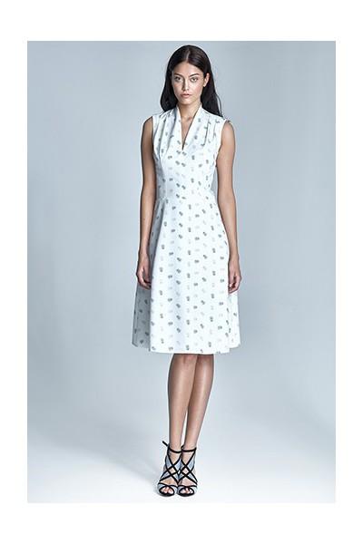 Dámské šaty Nife S74-ecru-béžová