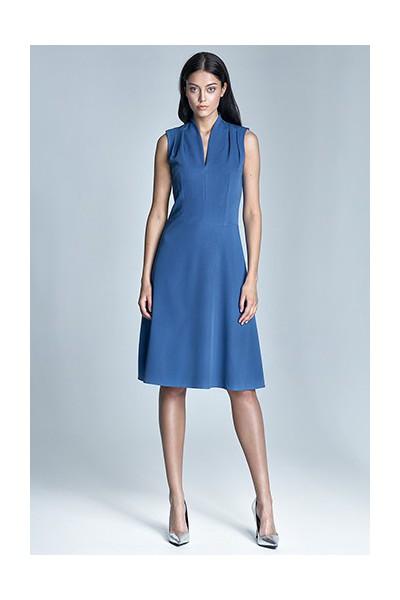 Dámské šaty Nife S74-modrá
