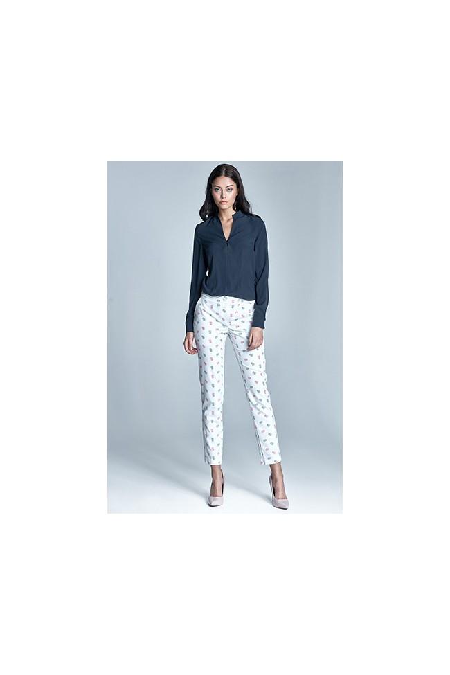 Dámské kalhoty Nife Sd23 - ecru-růzové