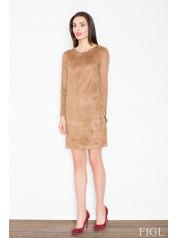 Dámské šaty Figl  M455 hnědé