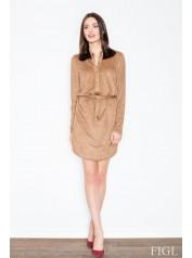 Dámské šaty Figl  M454 hnědé