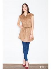 Dámské šaty Figl  M 451 hnědé