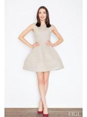 Dámské šaty Figl  M 457 béžová