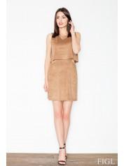 Dámské šaty Figl  M 461 hnědá