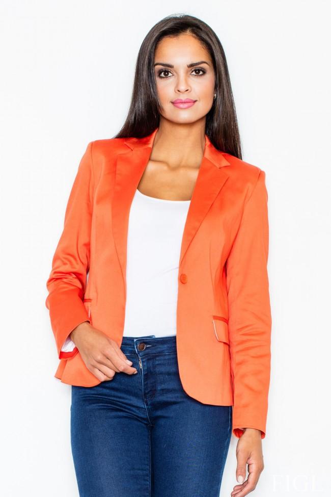 Dámské sako Figl 108 oranžové