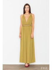 Dámské šaty Figl  M 483 olivová