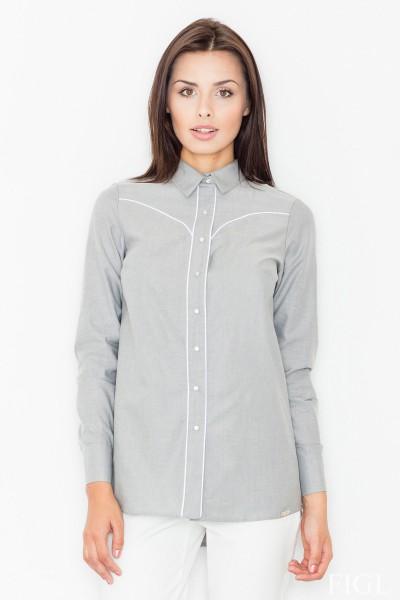 Dámská košile Figl M 492-šedá