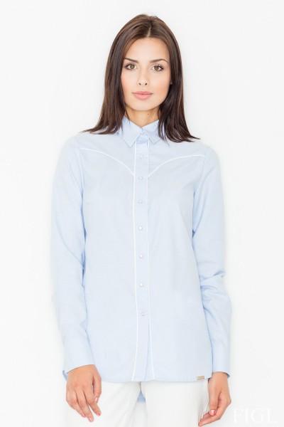 Dámská košile Figl M 492-modrá