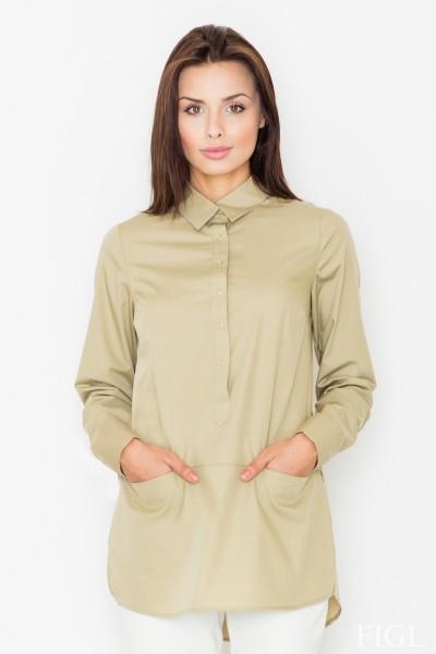Dámská košile Figl M 493-zelená