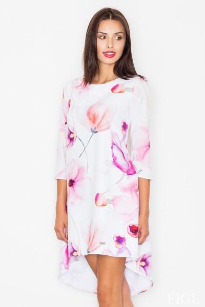 Dámské šaty Figl  M 497-vzorované fialové