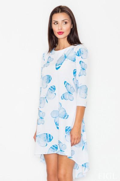 Dámské šaty Figl  M 497-vzorované modré