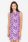 Dámské šaty Figl  M 498-vzorované fialové