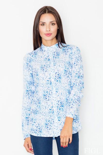 Dámská košile Figl M 504-vzorovaná-modrá