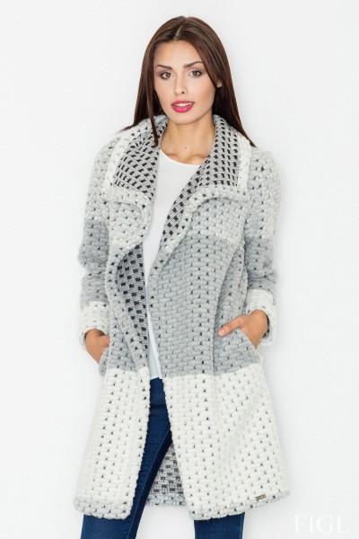 Dámský kabát Figl M 507 šedá