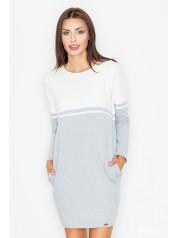 Dámské šaty Figl  M 510 - šedá