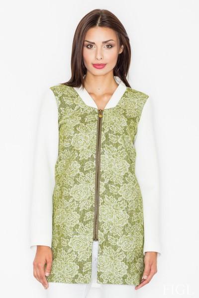 Dámský kabát Figl M 513 zelená