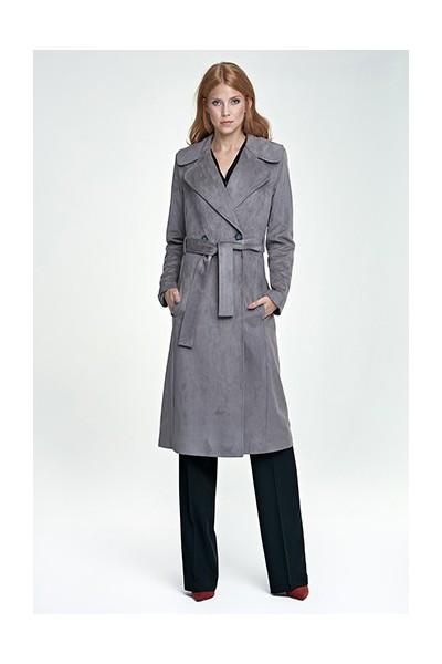 Dámský kabát Nife Pl 03 šedá
