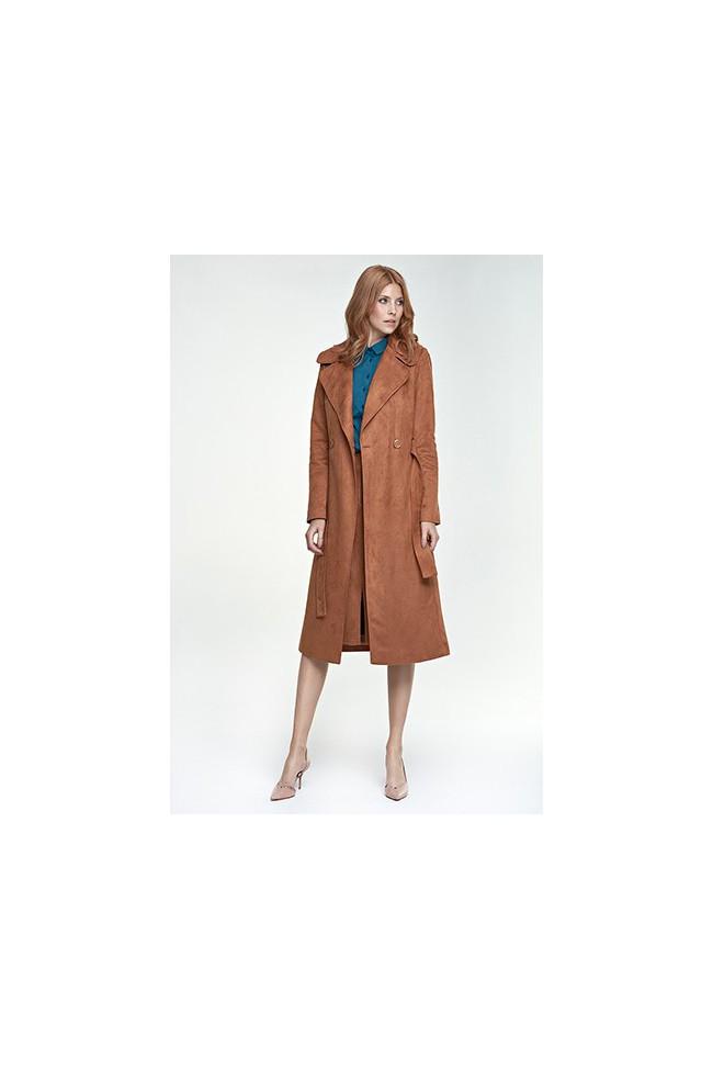 Dámský kabát Nife Pl 03 hnědá