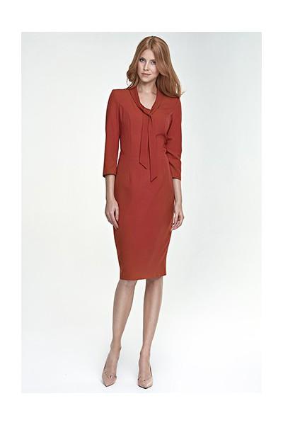 Dámské šaty Nife S77 hnědé