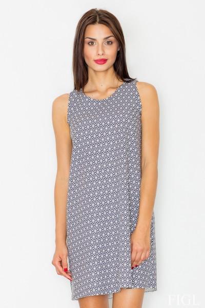 Dámské šaty Figl  M 518 vzorované šedé