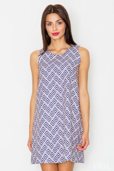 Dámské šaty Figl  M 518 vzorované sv.modré