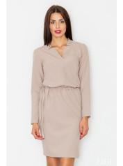 Dámské šaty Figl  M 533 béžové