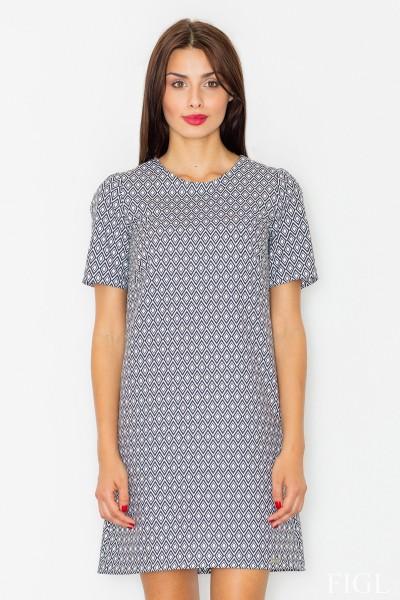 Dámské šaty Figl  M 519 vzorované šedé